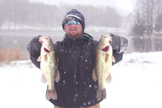 winter bass fishing